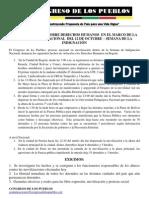 Reporte Ddhh Congreso Delos Pueblos