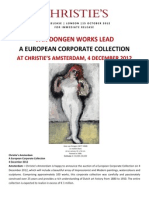 Van Dongen works lead a European Corporate Collection - Christie's Amsterdam, 4 December 2012
