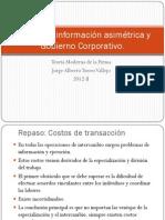 Contratos, información asimétrica y Gobierno Corporativo
