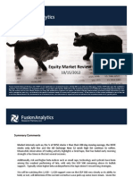 Fusion Research - Equity Market Review for October 15 2012