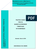 Politica Marco de No Maderables en Guatemala