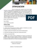 NOTIFICACION ASAMBLEA 2012