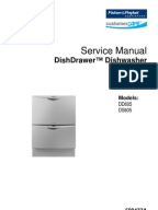 fisher paykel dishwasher dd603 manual