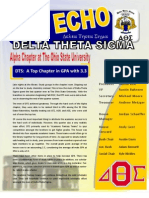 Delta Theta Sigma Alpha Echo Newsletter