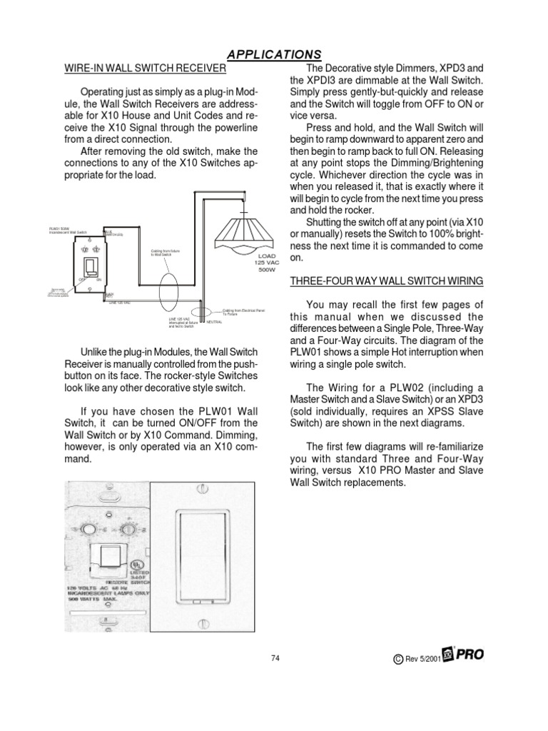 x10 wall switch wiring diagram Images Gallery. 3 4 way switch wiring  machines electrical equipment rh scribd com