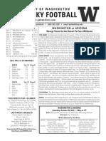 Washington football notes Arizona