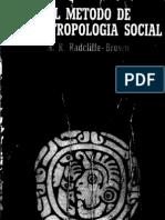 08 - Radcliffe-Brown - El Método de la Antropología Social