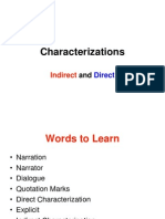 Characterizations Lesson