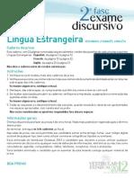 UERJ 2012 - Exame Discursivo - Lingua Estrangeira