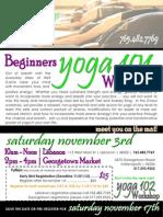 YOGA - Beginner 101 Workshop - 11.3