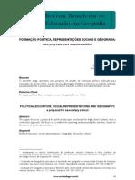 Formação política, representações sociais e geografia