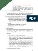 Pautas Para El Comentario de Un Texto Constitucional 2011-12