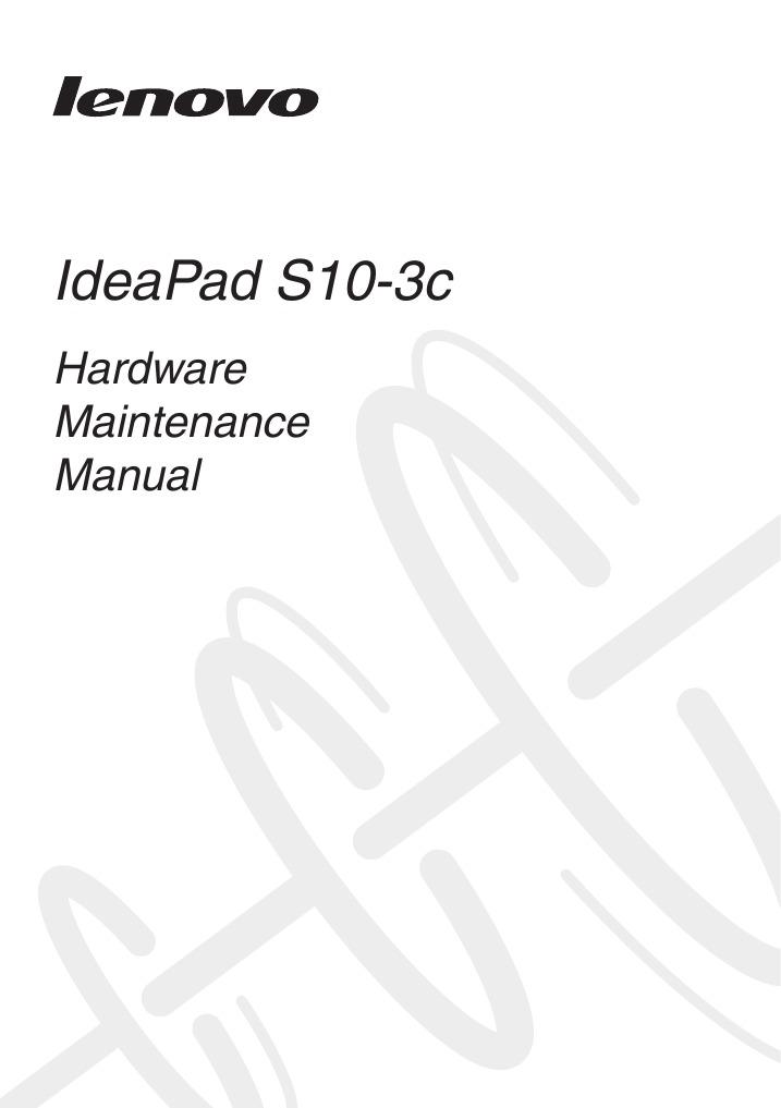 Lenovo IdeaPad S10-3c Hardware Maintenance Manual Service