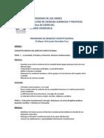 Programa de la materia Derecho Constitucional