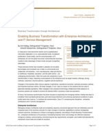 Enabling Business Transformation with Enterprise Architecture and IT Service Management