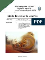INFORME DISEÑO DE MEZCLA Nº 002