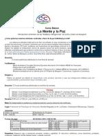 Invitación Mente y Paz 2012