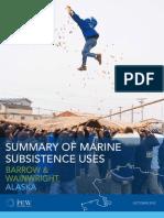 Summary of Marine Subsistence Uses