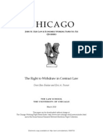 The Right to Withdraw in Contract Law