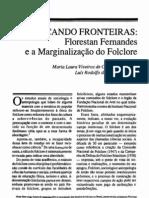 Calvacanti Et Al Florestan Fernandes e a Marginalizacao Do Folclore ES 1990