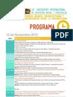 Programa Encuentro 2012