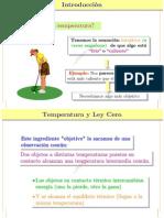 Temperatura y Principio Cero F1