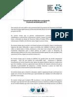 Comunicado do PAN sobre a proposta de Orçamento de Estado para 2013