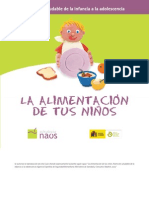 alimentación de tus niños