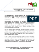 Mocion Iu+Lv Sobre Cuartel de La Guardia Civil