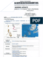 NDRRMC Update Severe Weather Bulletin No 16 Re Typhoon Nina (Prapiroon)