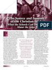 The Source and Summit of the Christian Life