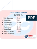 Kotak Mahindra Bank - Group 1PPT