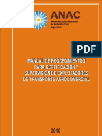 Manual de Procedimientos Para Certificacion de Explotadores Aereos[1]