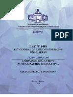 Ley 1488 de Bancos y Entidades Financieros Libro