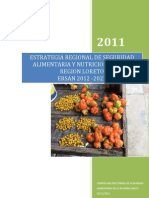 Estrategia Regional de Seguridad Alimentaria LORETO2012