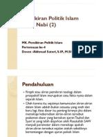 4. Pemikiran Politik Islam Masa Nabi (2)