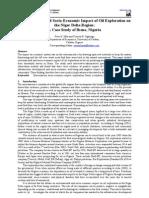 Environmental and Socio-Economic Impact of Oil Exploration on the Niger Delta Region