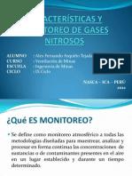 CARACTERÍSTICAS Y MONITOREO DE GASES NITROSOS