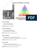 Questioning with Bloom's Taxonomy