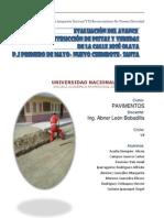 Informe Pavimentos - Pj 1ro Mayo