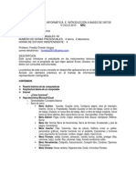 Programa de Curso Informática e Introducción a base de datos