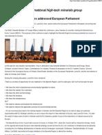 LKAB President Lars-Eric Aaro Addressed European Parliament