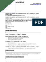 Resume _ Afzal Bhat _ 3.2 Yrs