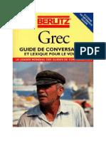 Berlitz Grec Guide de Conversation Et Lexique Pour Le Voyage