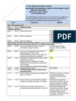 3rd Regional Forum Programme Schedule