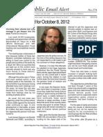 274 - Benjamin Fulford for October 15, 2012