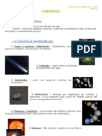 1.1 - Terra no espaço - Universo - Informação