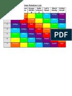 2E Learning Centres Rotation List