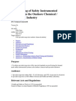 Proof Testing of Safety Instrumented Systems in the Onshore Chemical