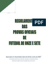 Regulamento Provas Oficiais de Futebol11 e 7